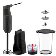 Bodum - Bistro Electric Black Blender Stick with Accessories