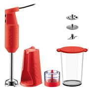 Bodum - Bistro Electric Blender Stick with Accessories Red