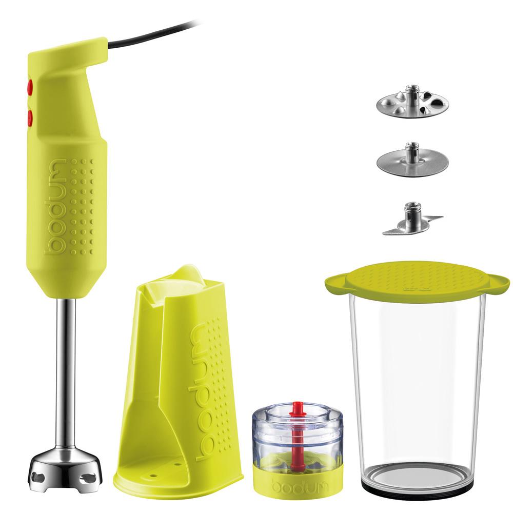 Bodum Bistro Electric Green Blender Stick With Accessories