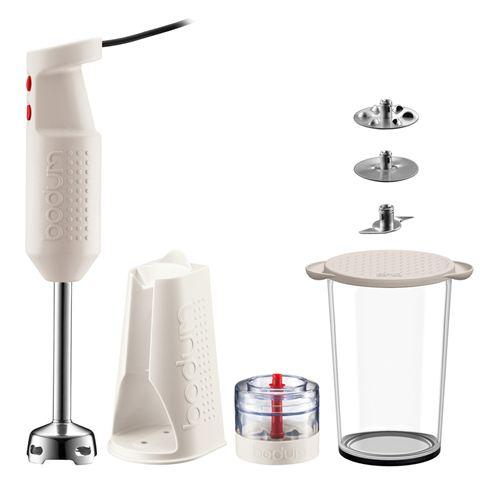 Bodum Bistro Electric White Blender Stick With