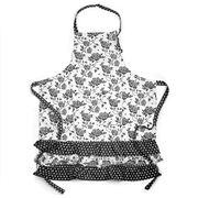 Ogilvies Designs - Black Rose Bib Apron