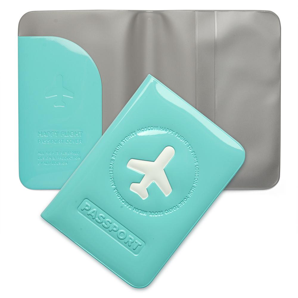 Alife design happy flight passport cover blue