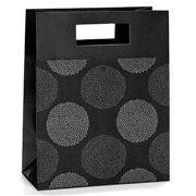 Vandoros - Chrysanthemum Black and Grey Small Gift Bag