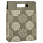 Vandoros - Chrysanthemum Mocha and Taupe Medium Gift Bag