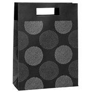 Vandoros - Chrysanthemum Black and Grey Medium Gift Bag
