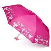 H.Due.O - Eyes Of Cats Mini Maxi Umbrella Pink