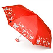 H.Due.O - Eyes Of Cats Mini Maxi Umbrella Red