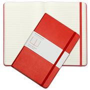 Moleskine - Classic Hard Cover Notebook Large Ruled Red
