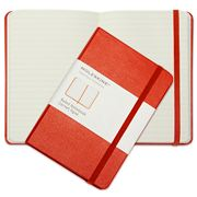 Moleskine - Classic Hard Cover Notebook Ruled Pocket Red
