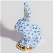 Herend - Sitting Rabbit Miniature Ornament Blue