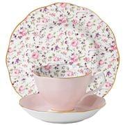 Royal Albert - Rose Confetti Teacup, Saucer & Plate Set