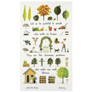 Rodriquez - Red Tractor Designs Day In The Garden Tea Towel