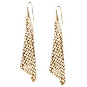 Swarovski - Fit Crystal Golden Shadow Pierced Earrings