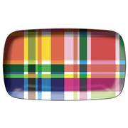 French Bull - Multi-Plaid Rectangular Platter