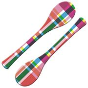 French Bull - Multi-Plaid Serving Spoon Set 2pce