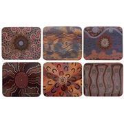Cinnamon - Fire & Water Dreaming Coaster Set 6pce