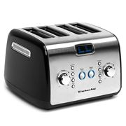 KitchenAid - Four Slice Toaster KMT423 Onyx Black