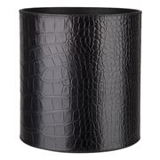 Redd Leather - Crocodile Leather Black Bin
