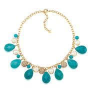 Carolee - Rock Stars Turquoise Cluster Necklace
