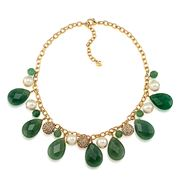 Carolee - Rock Stars Aventurine Cluster Necklace