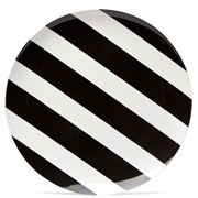 J.A.B. Design - Black & White Stripe Round Plate