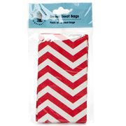 Robert Gordon - Sweet Treat Bag Set 12pce Red Zigzag