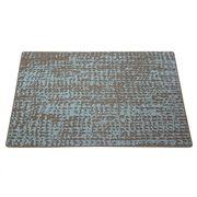 Modern Twist - Grain Silicone Placemat Blue Steel