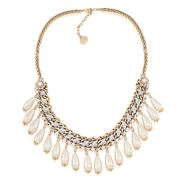 Carolee - Lux Antique Lace Pearl Drop Necklace
