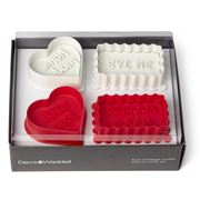 Davis & Waddell - Message Cookie Cutter Set 4pce