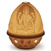 Lladro - Lithophane Votive Light Goddess Lakshmi