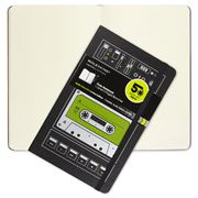 Moleskine - Audio Cassette Large Plain Notebook Green