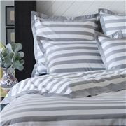 Linen & Moore - Charlie Queen Size Doona Cover Set Grey