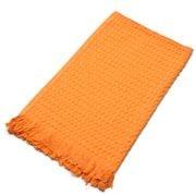 Linen & Moore - Waffle Weave Hand Towel Mandarin