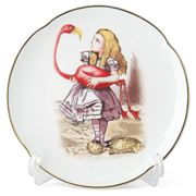 Reutter - Alice in Wonderland Plate Alice with Flamingo