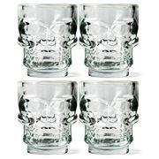 Kikkerland - Skull Shot Glasses 4pce