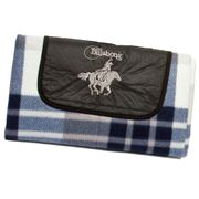 Billabong - Navy Blue Chequered Polar Fleece Outdoor Rug