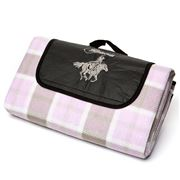 Billabong - Lilac Chequered Polar Fleece Outdoor Rug