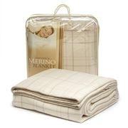 Creswick - Merino Ivory Check Queen Sized Blanket
