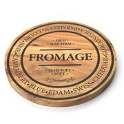 S & P - Fromage Round Wooden Cheese Board Medium