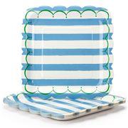 Meri-Meri - Toot Sweet! Large Paper Plates Set Blue 12pce