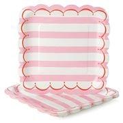 Meri-Meri - Toot Sweet! Large Paper Plates Set Pink 12pce