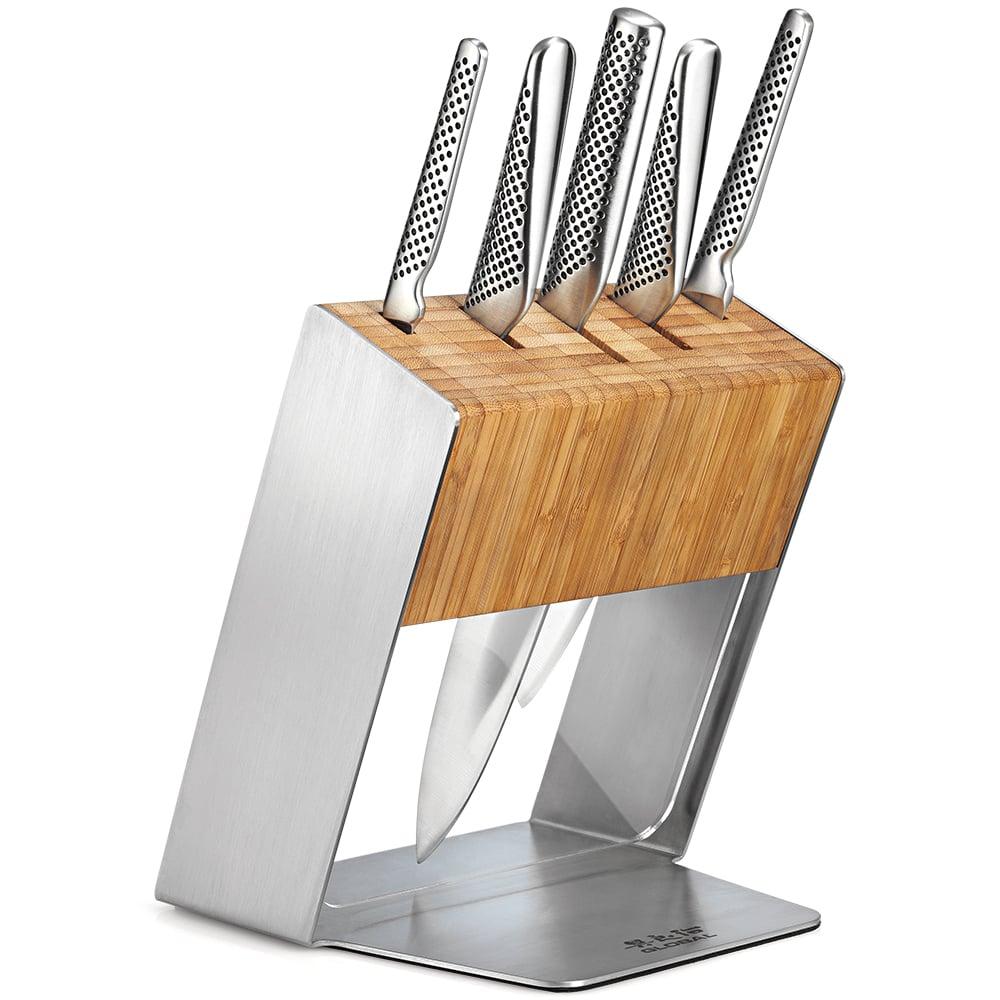 global katana knife block set 6pce peter s of kensington