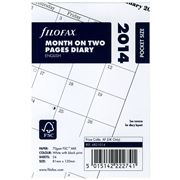 Filofax - 2014 Pocket Sized Month On Two Pages Diary Refill