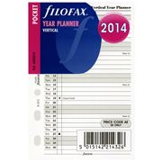 Filofax - 2014 Pocket Size Vertical Year Planner Refill