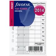 Filofax - 2014 Pocket Horizontal Year Planner Refill