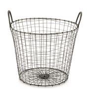 Robert Gordon - Nickel Finished Deep Wire Basket Small