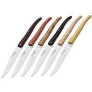 Laguiole - Steak Knife Mixed Wood Set 6pce