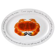 Jersey Pottery - Fruits de Mer Crab Oval Plate