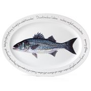 Jersey Pottery - Fruits de Mer Bass Oval Plate