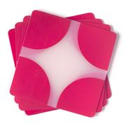 Rapee - Contempo Fuchsia Diamante Coaster Set 4pce